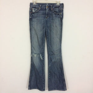 7 for all Mankind Womens 24 A Pocket Distressed